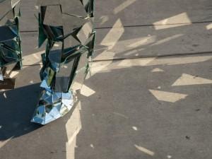 Mirror Man foot close-up