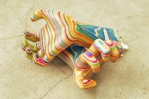 Skateboard sculpture - Hands