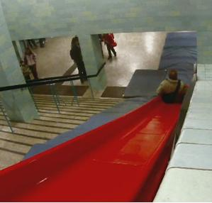slide or staircase, escalator, which would you choose? the funtheory