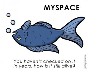 MySpace, pet, fish, dead
