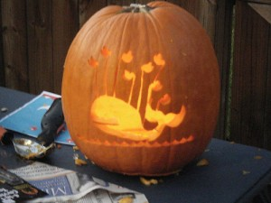 Twitter Fail Whale Pumpkin, Social Media Halloween