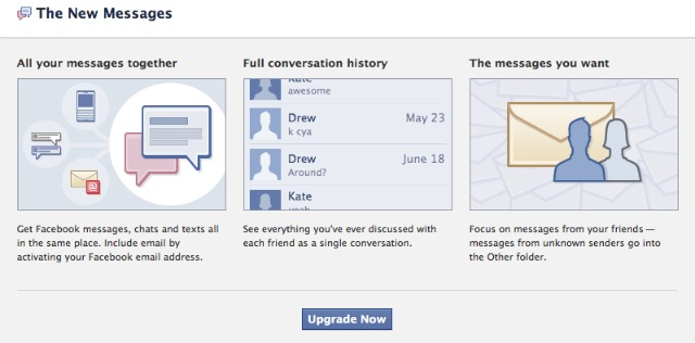Facebook New Messaging System